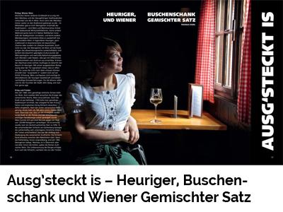Ausg'steckt is – Heuriger, Buschenschank und Wiener Gemischter Satz (Port Culinaire No. 40)