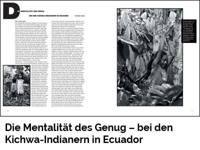 Die Mentalität des Genug – bei den Kichwa-Indianern in Ecuador (Port Culinaire No. 45)