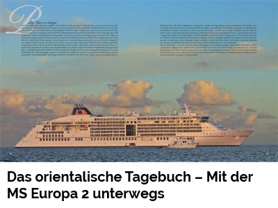 Das orientalische Tagebuch – Mit der MS Europa 2 unterwegs (Port Culinaire No. 29-31